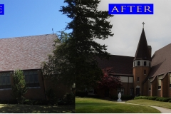 01 Chuch Roof_ 10911 Woodstock St._ Huntley before after