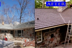 20 Metal Shake Roof_ 820 S. Green Bay Rd._ Grafton WI 1 before after