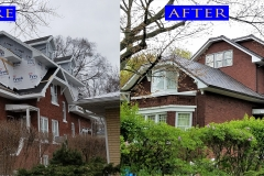 01 Metal Shingle Roof_ 811 Central St._ Evanston before after