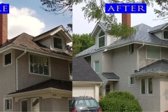 02 Metal Slate Roof_ 449 S. Stone Ave._ La Grange before after