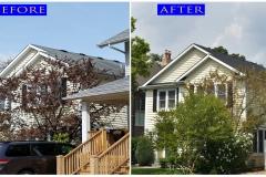 16 Asphalt Shingle Roof_ 1326 Central Ave._ Wilmette before after