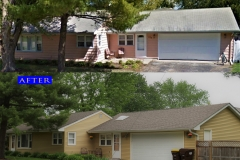 09 Vinyl Siding. Crystal Lake before after