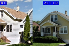 Vinyl Siding_ 2164 S. 59th St._ West Allis before after