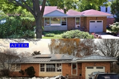 03 Metal Panel Roof_ 905 S. Evergreen Ave._ Arlington Heights before after