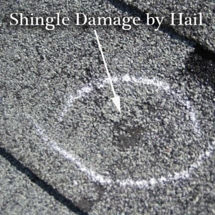 hail damage roof 432x432 - Storm & Hail Damage